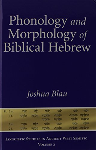 Phonology and Morphology of Biblical Hebrew