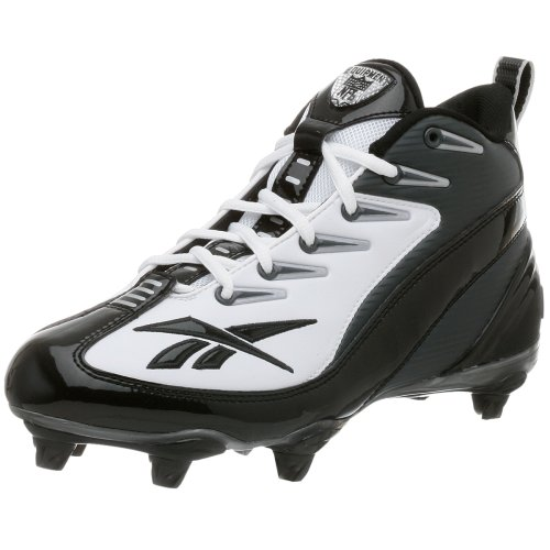 Reebok Mens Nfl 4 Speed Iii Mid Voetbal Cleat Wit / Zwart