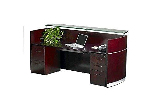 - Napoli Reception Desk Mahogany Dimensions: 86.5
