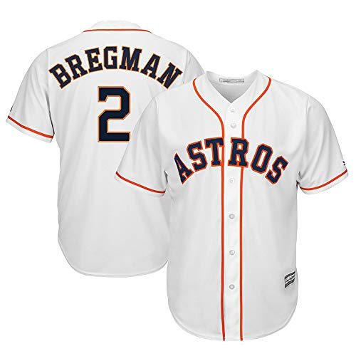 Men's/Women's/Youth Alex_Bregman_#2_Astros Official Houston Cool Base Player Jersey L ()