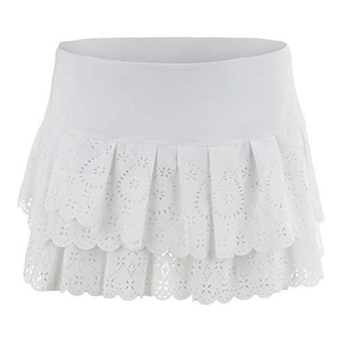 Lucky in Love Laser Pleat Tier Skirt-Medium-White by Lucky In Love
