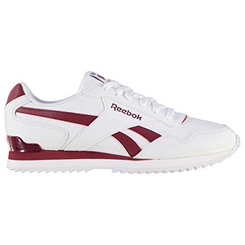 Reebok Clip Ondulation Glisse Royal Herren Sneaker Blanc / Bordeaux