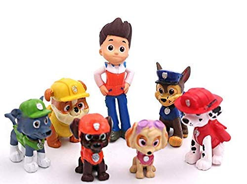 12PCS paw patrol cake ingredients, cake and cupcake decorations, paw patrol mini toys, children's birthday shower party suppli by ZCRR (Image #4)