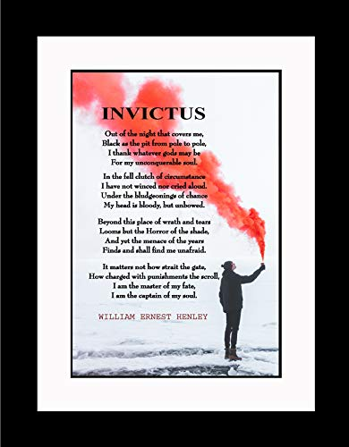 (WeSellPhotos William Ernest Henley Out of The Night Poster, Print, Picture or Framed Photograph (20X26 Double Matted to 13x19 Framed))