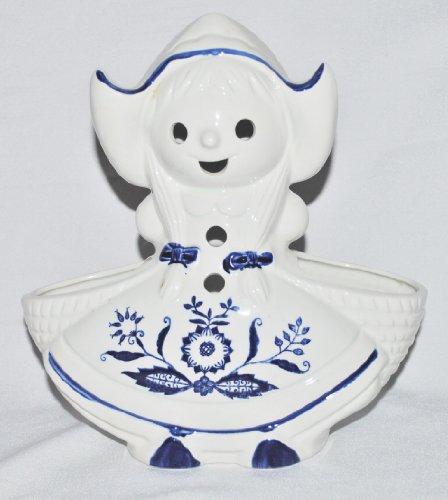 1960's Rubens Originals Pottery Dutch Girl Planter Dish Bowl