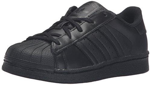 Adidas Kids' Superstar Foundation EL C Sneaker Black/Black/Black