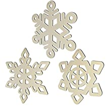 Wooden Christmas Tree Decoration-YuQi 30pcs Blanks Wooden Tree Embellishments with Natural Twine