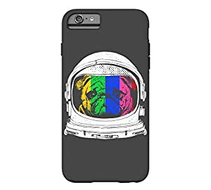 Astronaut Pug iPhone 6 Plus Charcoal Tough Phone Case - Design By Humans