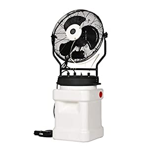 "TPI PM18S Outdoor Rated Self-Contained Power Mister, Stand Alone, Medium Pressure, 18"" Blade Size, 120-Volt with GFCI Plug"