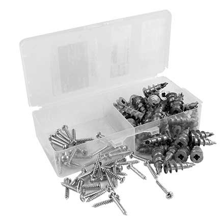 Selecta SN2ZK Zip-It Metal Anchor Kit 50 Screws /& Anchors #8 Zinc Die-Cast