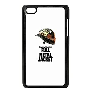 Durable Hard cover Customized TPU case Full Metal Jacket iPod Touch 4 Case Black