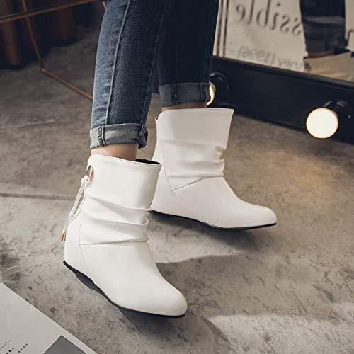 Hiver Bottes Taille 43 2018 Femmes Nouvelle Automne Bottines Marche Blanc 33 Simple Courtes Mode De AxBI0w