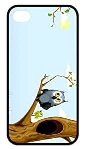 Apple Iphone 4/4s Snap-On Case Owl Friend Hard Protector Cover