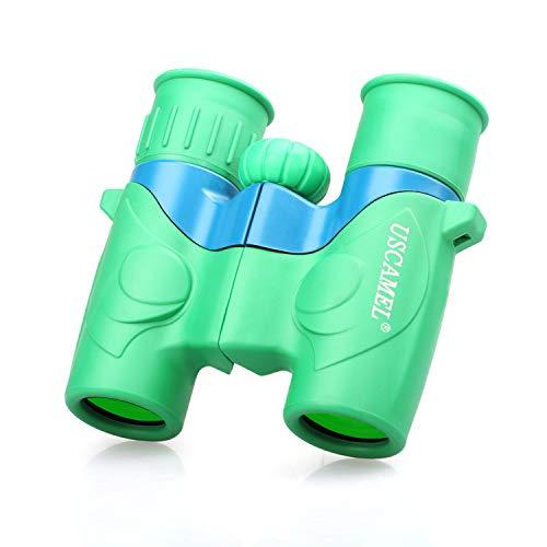 USCAMEL Kids Binoculars – 6×21 Lightweight Toy Compact Binoculars for Boys Girls Bird Watching, Travel, Safari, Camping, Sport Games Watching Green
