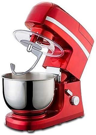 Batidoras amasadoras Batidora de pie en la cocina multifuncional con cabeza inclinable acero inoxidable 5L Chef Máquina batidor de huevo, Masa mezclador, Máquina de café / máquina de picar carne, jugo: Amazon.es