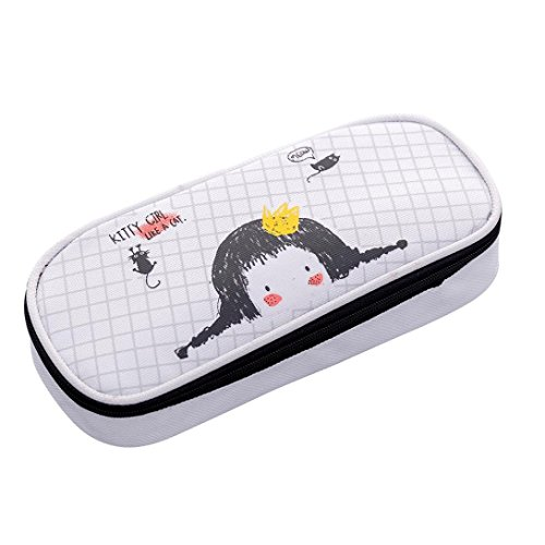 Price comparison product image Tpingfe Pencil Bag Big Capacity Stationery Gift Cute Pencil Box Case School Supplies (B)