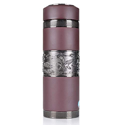 Hexiansheng Thermos Cup Thermal Mug Travel Mug,18065mm Cup 500mL Health Care Straight Cup Purple Clay Cup