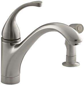 Kohler K 10416 Bn Forte Single Control Kitchen Sink Faucet