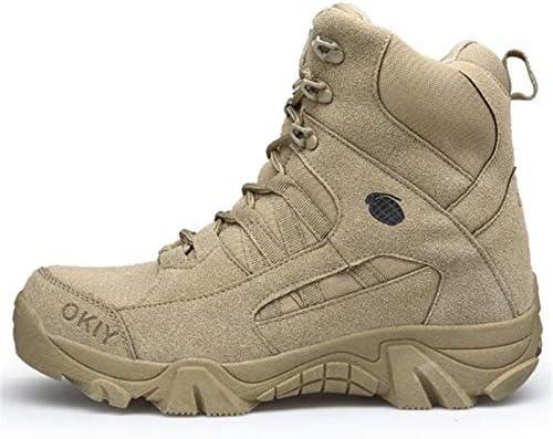 LanLan Hommes arm/ée Combat Tactique Militaire Cheville Bottes randonn/ée en Plein air d/ésert Chaussures