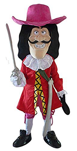 ARISMASCOTS Pirates of The Caribbean Captain Hook Costume Pirate Mascot Costume for Party Halloween Dress Holiday Mascots
