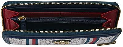 Tommy Hilfiger Wallet, Large Zip Wallets for Women, Diamond Jacquard Wallet