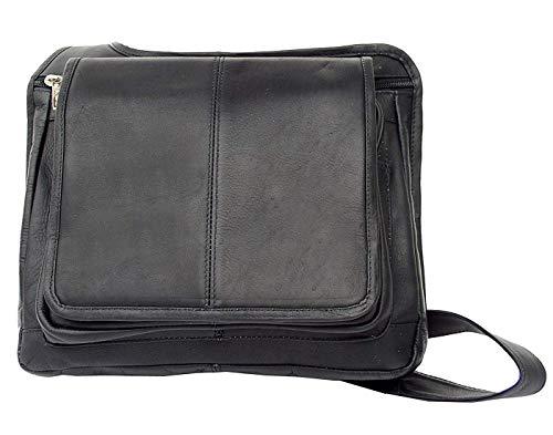 Piel Custom Personalized Leather Slim Line Flap-Over Ladies Bag in ()