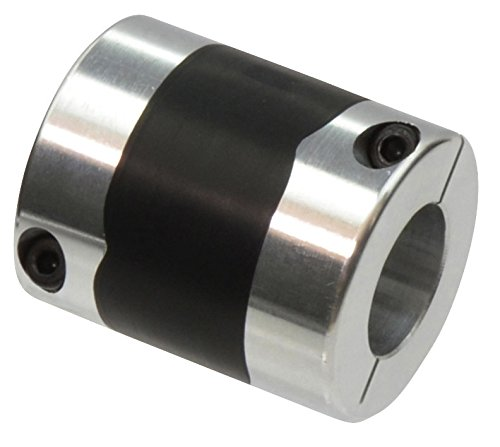 Aluminum A2017 Single Clamp Type Bore Diameters 19 and 24 mm NBK XGT-56CS-19-24 High-Gain Rubber Flexible Coupling