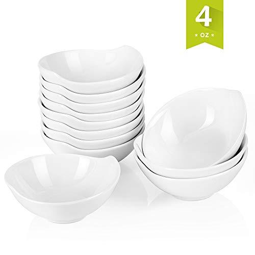 Ramekin 3 Oz Plain - Malacasa 12 pieces Porcelain Ramekins 3 Ounce for Souffle Baking Dipping Dishes Cups, White