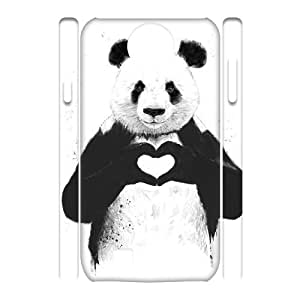 Panda DIY 3D Case Cover for SamSung Galaxy S4 I9500 LMc-61705 at LaiMc