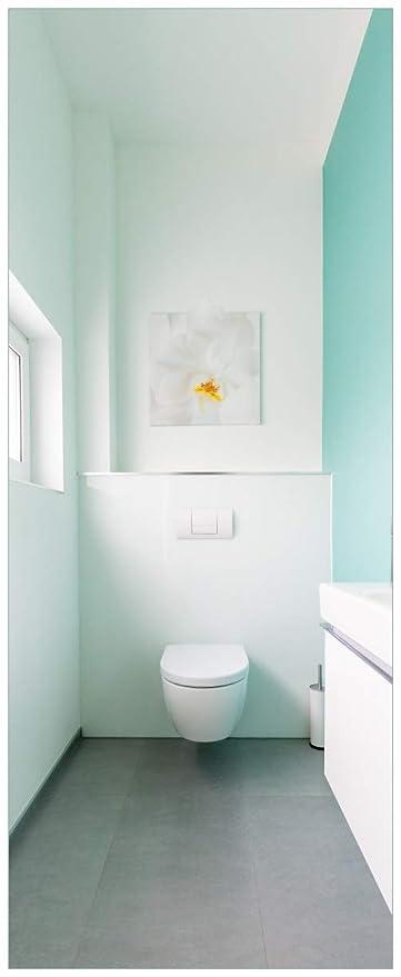 Wallario Glasbild Badezimmer Gästetoilette Innenansicht - WC und ...