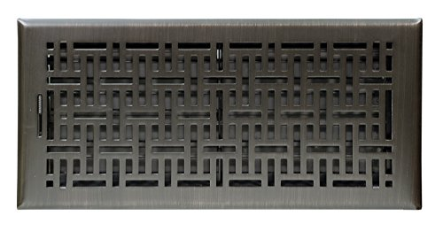(Accord Ventilation AMFRRBB614 Wicker Design Floor Register, Oil Rubbed Bronze, 6