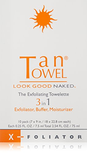 Tan Towel Exfoliating Towelette Count product image