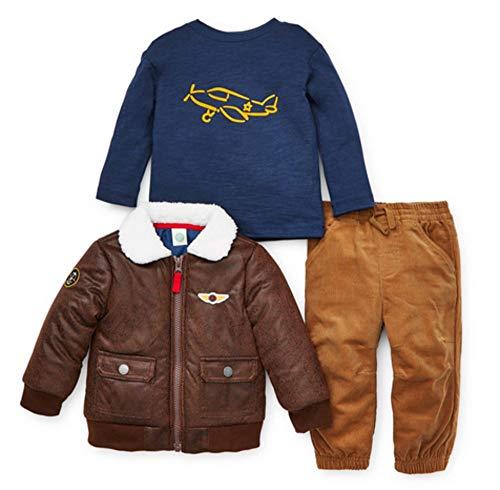 Little Me Baby Boy's Jacket Set Outerwear, Tan, 24 Months