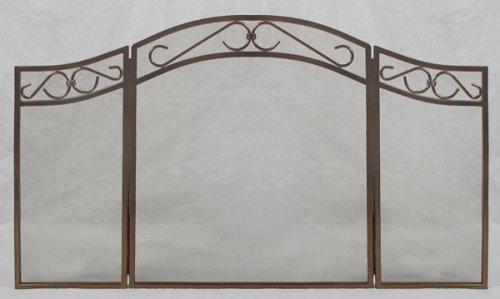 Woodfield 3-panel Rubbed-oil Bronze Fireplace Screen Screen