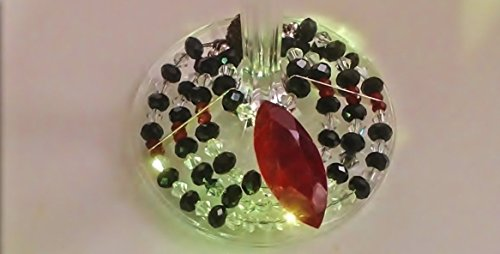 Egyptian collar genuine Ruby, Crystals & Sterling Silver Wine Glass Charm. PROMO PRICE.