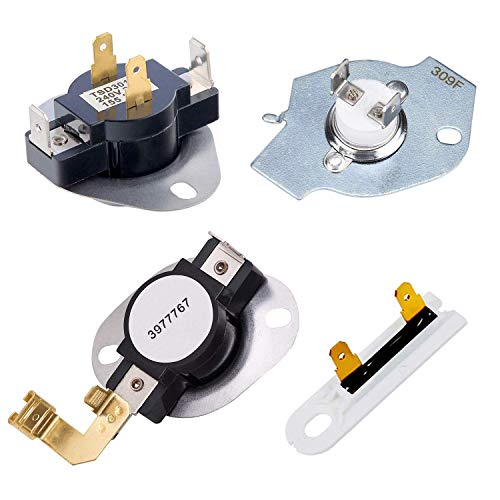 3387134 High Temperature Thermostat 3392519 Dryer Hot Fuse 3977393 Hot Cutoff Switch 3977767 Self-Propelled Thermostat Replaced with Whirlpool and Maytag Dryer Replacement Model 3391693 Wp3977767Vp ()