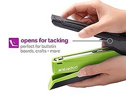 PaperPro inPOWER 20 Reduced Effort Desktop Stapler with Built-in Staple Remover, Green/Black (1123)