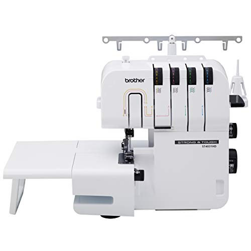 Cheap Brother Serger, ST4031HD, Strong and Tough Serger, 1,300 Stitches Per Minute, Durable Metal Frame Overlock Machine, Large Extension Table serger