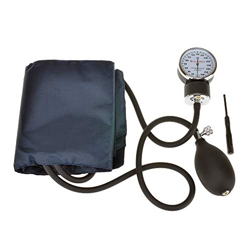 Dealmed Professional Manual Blood Pressure Moniter With Adult Size Cuff, Black… ()