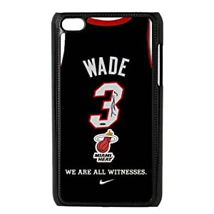 Luckhappy NBA Miami Heat Dwyane Wade jeraey Black Plastic case - fits IPod Touch 4th cover