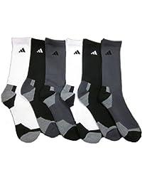 Men's Athletic Crew Socks (6-Pack) White/Black/Gray/Heather Shoe Size 6-12