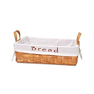 Darice Bread Basket with Embroidered Removable Cloth Lining