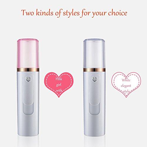 Nano Mist Facial Spray Steamer Yiitay Portable Moisturizing Nebulizer Body Skin Care Mini USB Face Spray Beauty Instruments by Yiitay (Image #7)