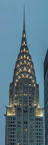 Feeling at home ROLLED-CANVAS-fine-art-print-Chrysler-Building-in-New-York-city-Architecture-67x21_in