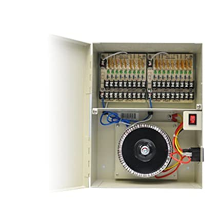 c2d3d2b3ffc47 Image Unavailable. Image not available for. Color  Orange Sources 18 PTC  Output 24VAC 12 Amp Power Distribution Box for CCTV Security Camera