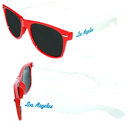 Men's Women's Red white Frame Los Angeles Basketball Clear lens Eye - Los Eyeglass Angeles Frames