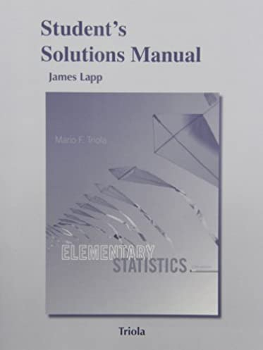 amazon com student s solutions manual for elementary statistics rh amazon com Elementary Statistics a Step by Step Approach Elementary Statistics Tutorial