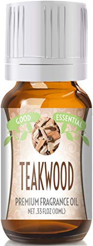 Teakwood Scented Oil by Good Essential (Premium Grade Fragrance Oil) - Perfect for Aromatherapy, Soaps, Candles, Slime, Lotions, and More!