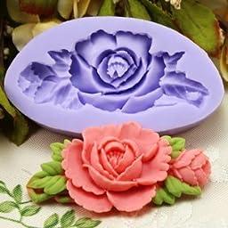 DGI MART Office School Educational DIY Craft Silicone Mold 6.6cm Single mini Flower Fondant Mold Silicone Sugar mini mold Craft Molds DIY Cake Decorating Mold Tray
