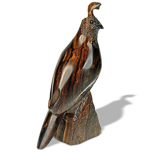 Sunland Artisans 7in Tall Detailed Quail Ironwood Carving for sale  Delivered anywhere in USA